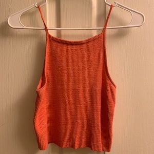 Urban Outfitters Coral Crop Top